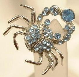 cancer rhinestone astrology horoscope zodiac jewelry broach pin